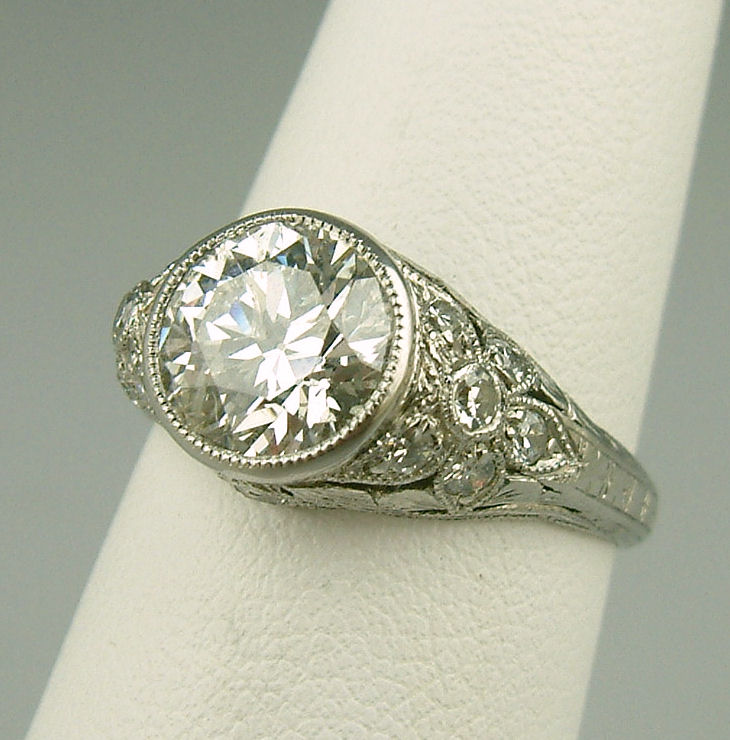 or jewelry vintage estate platinum